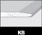 Krawędzie płyt gipsowo-kartonowych - KS