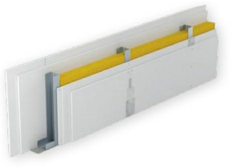 Model ścianki działowej z podwójnym płytowaniem