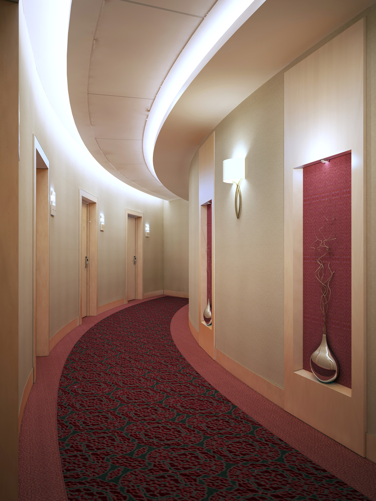 sufity podwieszane - wykorzystanie krzywizn pomieszczenia